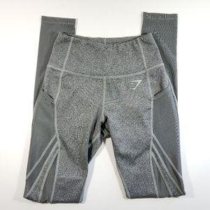 Womens Gymshark mesh leggings pockets sz XS E1